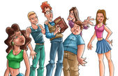 Teens get together — Foto Stock