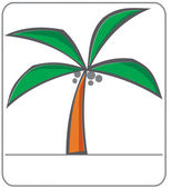 Simple vector palm tree — Stock Photo