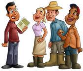 Reunião de agricultores — Foto Stock