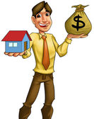 Buying a house — Stockfoto
