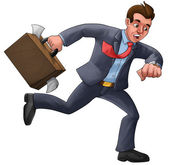 Executive in a hurry — Stock Photo