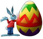 Big easter egg — Stock Photo