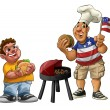 Stock Photo: American barbecue