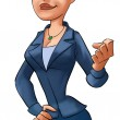 Air-hostess - Stock Photo