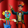 Entertainer and clown — Stockfoto