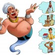 Foto Stock: Smilley genie desires