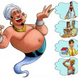 Smilley genie desires — Stock Photo