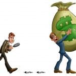 Big money bag — Stock Photo