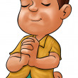 Foto Stock: Boy praying