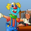 Stock Photo: Clown in the court