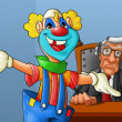 Clown in the court — Stock Photo #5860833