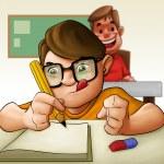 hårt studerande — Stockfoto