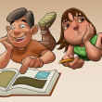 la jeune fille étudie à son examen — Photo