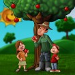 Stock Photo: The family and the treee