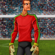 Stock Photo: The goal keeper