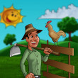 The farmer — Stock Photo