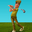The golf player - Stock Photo