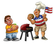 American barbecue — Stock Photo