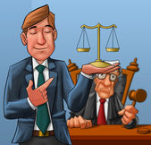 Lawyer and judge — Stock Photo