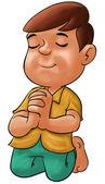 男孩祈祷 — 图库照片