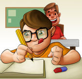Estudante duro — Foto Stock