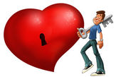 The big red heart — Stock Photo