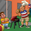 Stockfoto: Independence day in the playground