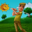 Man playing golf — Foto Stock