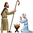 Joseph and mary — Stock Photo