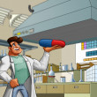 Stock Photo: Laboratory and medic