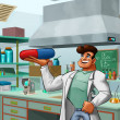Laboratory and medic - Foto Stock