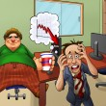 Crazy office — Stock Photo