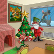Xmas room — Stock Photo