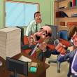 In the office — Stock Photo