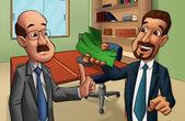Deux hommes dans un bureau — Photo