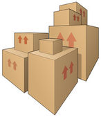 Big boxes — Stock Photo