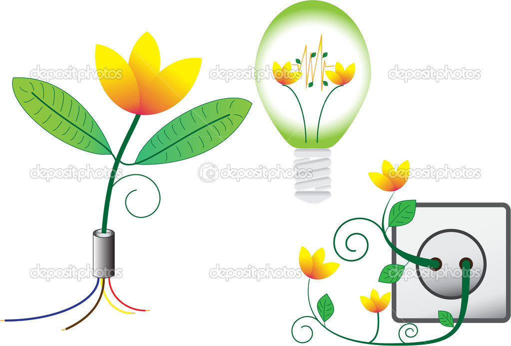 Eco and green vector — Stock Photo #6022564