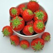 Bowl of Strawberrys — Stock Photo