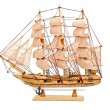 Stock Photo: Wooden ship toy model