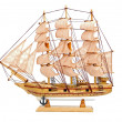 Wooden ship toy model — Stock Photo