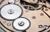 Inside the clock (clockworks) — Stock Photo