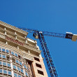 crane and highrise construction site — Stock Photo #5952839