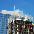 Detail of highrise construction site — Stock Photo