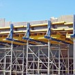 Scaffolding of bridge construction site - Stock Photo