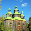 Antique wooden church — Foto Stock