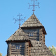 Antique wooden church detail — Stockfoto