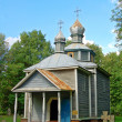Antique wooden chapel — Stock Photo