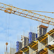 Сoncrete formwork and and crane — Stock Photo #6422457