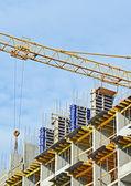 Сoncrete formwork and and crane — Stock Photo