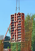 Сoncrete formwork on construction site — Stock Photo